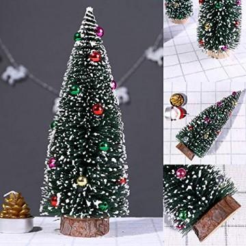 Bescita Weihnachtsbaum künstlich Desktop Mini Christbaum Tannenbaum Weihnachts Deko Home Wohnzimmer Decoration Christmas Gifts (15CM) - 2