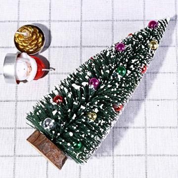 Bescita Weihnachtsbaum künstlich Desktop Mini Christbaum Tannenbaum Weihnachts Deko Home Wohnzimmer Decoration Christmas Gifts (15CM) - 3