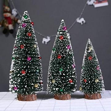 Bescita Weihnachtsbaum künstlich Desktop Mini Christbaum Tannenbaum Weihnachts Deko Home Wohnzimmer Decoration Christmas Gifts (15CM) - 4