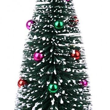 Bescita Weihnachtsbaum künstlich Desktop Mini Christbaum Tannenbaum Weihnachts Deko Home Wohnzimmer Decoration Christmas Gifts (15CM) - 5