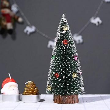 Bescita Weihnachtsbaum künstlich Desktop Mini Christbaum Tannenbaum Weihnachts Deko Home Wohnzimmer Decoration Christmas Gifts (15CM) - 6