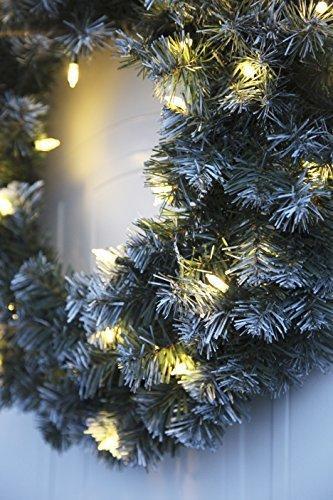Best Season LED-Tannenkranz mit Schneedecor, beleuchtet circa Durchmesser 50 cm, 40 warmweiß Pisello LED Outdoor, Trafo Karton 612-27 - 2