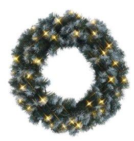 Best Season LED-Tannenkranz mit Schneedecor, beleuchtet circa Durchmesser 50 cm, 40 warmweiß Pisello LED Outdoor, Trafo Karton 612-27 - 1