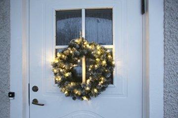 Best Season LED-Tannenkranz mit Schneedecor, beleuchtet circa Durchmesser 50 cm, 40 warmweiß Pisello LED Outdoor, Trafo Karton 612-27 - 6