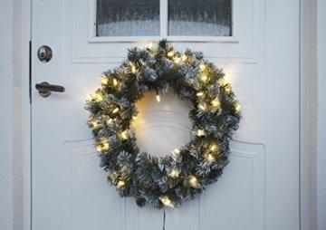 Best Season LED-Tannenkranz mit Schneedecor, beleuchtet circa Durchmesser 50 cm, 40 warmweiß Pisello LED Outdoor, Trafo Karton 612-27 - 7