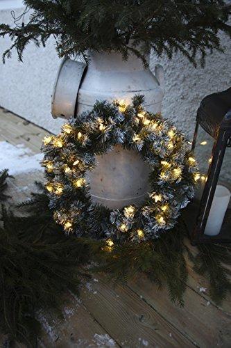 Best Season LED-Tannenkranz mit Schneedecor, beleuchtet circa Durchmesser 50 cm, 40 warmweiß Pisello LED Outdoor, Trafo Karton 612-27 - 8