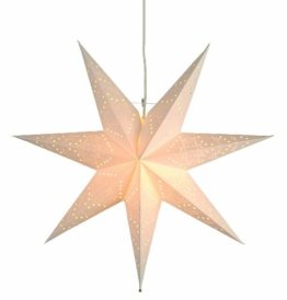"Best Season Papierstern ""Sensy Star 55""  inklusive Kabel, Vierfarb-Karton, crème 231-19 - 1"