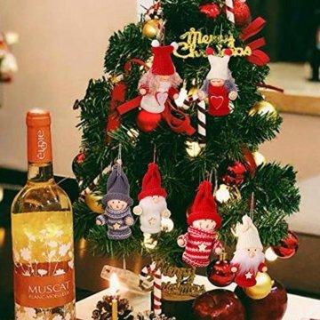 biteatey Weihnachtsschmuck Holzgarn Alter Junge Mädchen Kleine Puppe Weihnachtsbaumschmuck Anhänger - 4