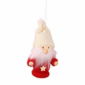 biteatey Weihnachtsschmuck Holzgarn Alter Junge Mädchen Kleine Puppe Weihnachtsbaumschmuck Anhänger - 1