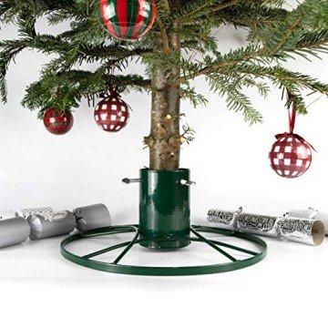 Bosmere G481 Moderne Christbaumständer 4 Zoll, grün glitzern - 1