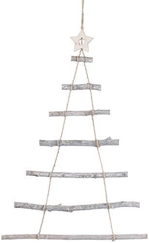 Britesta Deko Weihnachtsbaum Holz: Deko-Holzleiter in Weihnachtsbaum-Form zum Aufhängen, 48 x 78 cm (Deko Holzleiter Tannenbaum) - 3