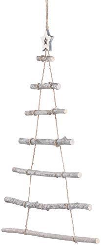 Britesta Deko Weihnachtsbaum Holz: Deko-Holzleiter in Weihnachtsbaum-Form zum Aufhängen, 48 x 78 cm (Deko Holzleiter Tannenbaum) - 4