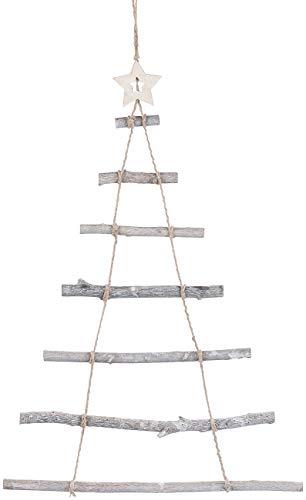Britesta Deko Weihnachtsbaum Holz: Deko-Holzleiter in Weihnachtsbaum-Form zum Aufhängen, 48 x 78 cm (Deko Holzleiter Tannenbaum) - 1