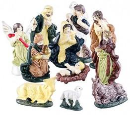 Britesta Krippenfiguren: 11-teiliges Weihnachtskrippen-Figuren-Set aus Porzellan, handbemalt (Krippefiguren) - 1
