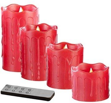 Britesta LED-Weihnachtskranz: Adventskranz mit roten LED-Kerzen, rot geschmückt (Kerzenkranz) - 7