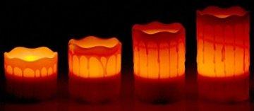 Britesta LED-Weihnachtskranz: Adventskranz mit roten LED-Kerzen, rot geschmückt (Kerzenkranz) - 9