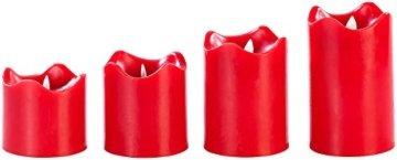 Britesta Tannenkranz: Adventskranz, rot, 4 rote LED-Kerzen mit bewegter Flamme (Weihnachtskranz) - 7
