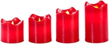 Britesta Tannenkranz: Adventskranz, rot, 4 rote LED-Kerzen mit bewegter Flamme (Weihnachtskranz) - 8