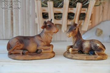 BTV Große Premium Krippenfiguren 12 -TLG. Set, hochwertige Ausführung und feine Mimik, handbemalt - Premium Figuren für große Holz Weihnachtskrippe Zubehör - 6