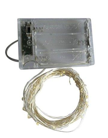 BXROIU 2 x 20er Micro LED Lichterkette Batterie betrieb und 2 Programm Auf 7ft 2Meter Silberdraht für Party, Garten, Weihnachten, Halloween, Hochzeit, Beleuchtung Deko(Warmweiß) - 8