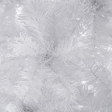 Casaria Weihnachtsbaum 180 cm Ständer künstlicher Tannenbaum Christbaum Baum Tanne Weihnachten Christbaumständer PVC Weiß - 2