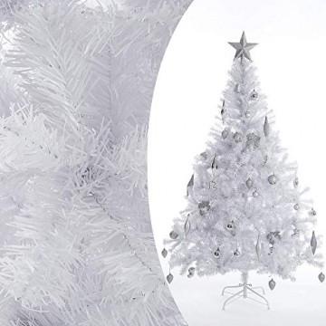 Casaria Weihnachtsbaum 180 cm Ständer künstlicher Tannenbaum Christbaum Baum Tanne Weihnachten Christbaumständer PVC Weiß - 3