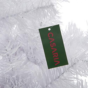 Casaria Weihnachtsbaum 180 cm Ständer künstlicher Tannenbaum Christbaum Baum Tanne Weihnachten Christbaumständer PVC Weiß - 4