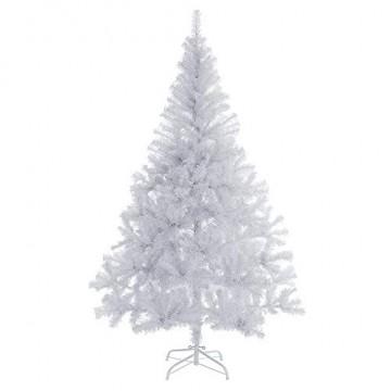 Casaria Weihnachtsbaum 180 cm Ständer künstlicher Tannenbaum Christbaum Baum Tanne Weihnachten Christbaumständer PVC Weiß - 1