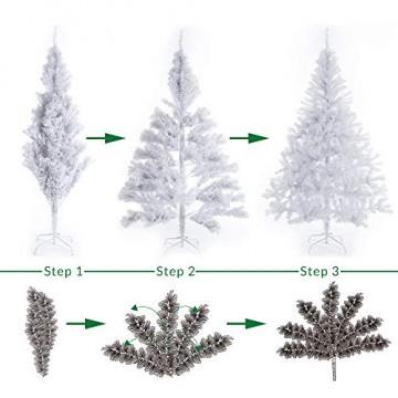 Casaria Weihnachtsbaum 180 cm Ständer künstlicher Tannenbaum Christbaum Baum Tanne Weihnachten Christbaumständer PVC Weiß - 6