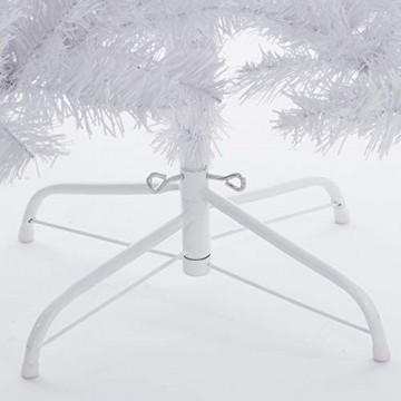Casaria Weihnachtsbaum 180 cm Ständer künstlicher Tannenbaum Christbaum Baum Tanne Weihnachten Christbaumständer PVC Weiß - 7