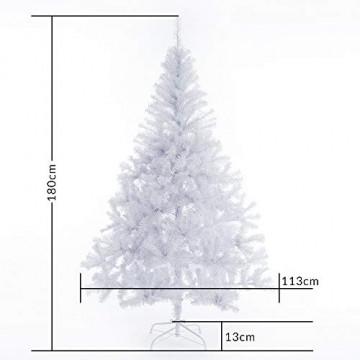 Casaria Weihnachtsbaum 180 cm Ständer künstlicher Tannenbaum Christbaum Baum Tanne Weihnachten Christbaumständer PVC Weiß - 8