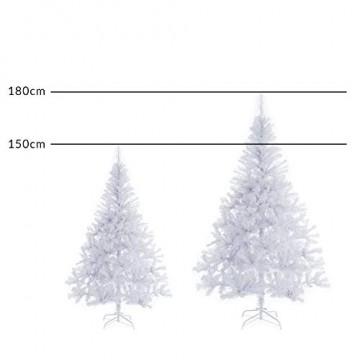 Casaria Weihnachtsbaum 180 cm Ständer künstlicher Tannenbaum Christbaum Baum Tanne Weihnachten Christbaumständer PVC Weiß - 9