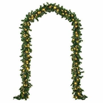 Casaria Weihnachtsgirlande I 10m I 200 LED's I In & Outdoor I Tannengirlande Tannenzweiggirlande Weihnachtsdeko - 3