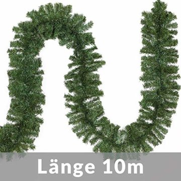 Casaria Weihnachtsgirlande I 10m I 200 LED's I In & Outdoor I Tannengirlande Tannenzweiggirlande Weihnachtsdeko - 6