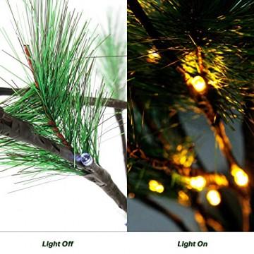 CCLIFE Mini LED Lichterbaum Weihnachtsbaum klein Künstlicher Tannenbaum mit LED Lichterkette Beleuchtung Kiefern Baum im Topf Kunstpflanzen Fensterdeko dekoration Schreibtischbaum - 3