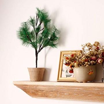 CCLIFE Mini LED Lichterbaum Weihnachtsbaum klein Künstlicher Tannenbaum mit LED Lichterkette Beleuchtung Kiefern Baum im Topf Kunstpflanzen Fensterdeko dekoration Schreibtischbaum - 4