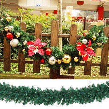 chivalrylist Tannengirlande künstliche Dekogirlande im Tannengrün Girlande Weihnachten - flexibel einsetzbar im Innen- und Aussenbereich - Diese Tannengirlande erfreut die ganze Familie - 3