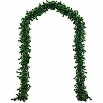 chivalrylist Tannengirlande künstliche Dekogirlande im Tannengrün Girlande Weihnachten - flexibel einsetzbar im Innen- und Aussenbereich - Diese Tannengirlande erfreut die ganze Familie - 5