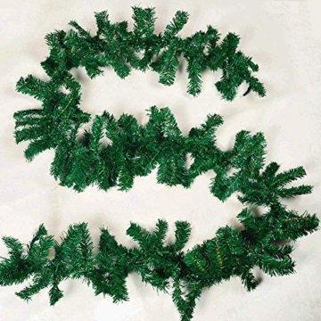 chivalrylist Tannengirlande künstliche Dekogirlande im Tannengrün Girlande Weihnachten - flexibel einsetzbar im Innen- und Aussenbereich - Diese Tannengirlande erfreut die ganze Familie - 8