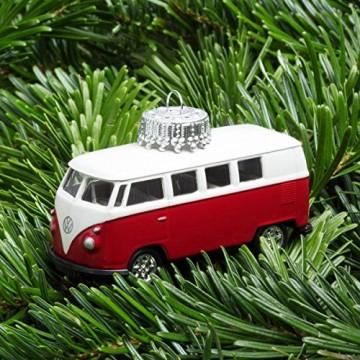 corpus delicti :: Christbaumschmuck aus Metall – die rollende Alternative zur Weihnachtskugel – VW Bus T1 Bulli (rot) - 2