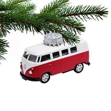 corpus delicti :: Christbaumschmuck aus Metall – die rollende Alternative zur Weihnachtskugel – VW Bus T1 Bulli (rot) - 3