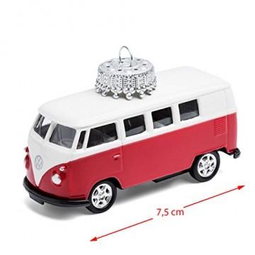 corpus delicti :: Christbaumschmuck aus Metall – die rollende Alternative zur Weihnachtskugel – VW Bus T1 Bulli (rot) - 4