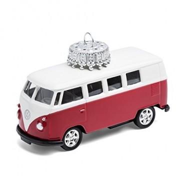 corpus delicti :: Christbaumschmuck aus Metall – die rollende Alternative zur Weihnachtskugel – VW Bus T1 Bulli (rot) - 1