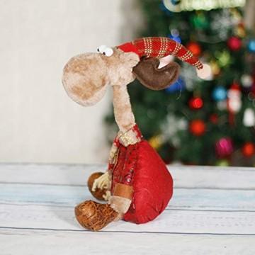 CQ&WL Weihnachtsschmuck Weihnachtselch Stofftier Weihnachtsfigur 15.7