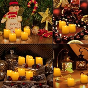Criacr 9er Led Kerzen mit Fernbedienung, Flammenlose Kerzen mit Timerfunktion, elektrische teelichter, 3 Modi, Batteriebetriebene Kerzen für Weihnachtsdeko, Hochzeit, Geburtstags Party ( Warmweiß ) - 2