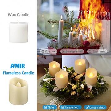 Criacr 9er Led Kerzen mit Fernbedienung, Flammenlose Kerzen mit Timerfunktion, elektrische teelichter, 3 Modi, Batteriebetriebene Kerzen für Weihnachtsdeko, Hochzeit, Geburtstags Party ( Warmweiß ) - 4