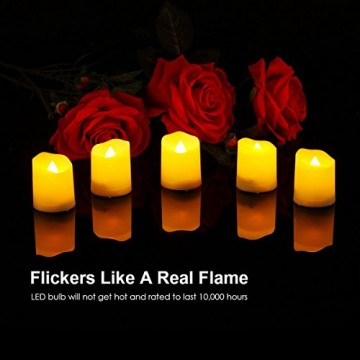 Criacr 9er Led Kerzen mit Fernbedienung, Flammenlose Kerzen mit Timerfunktion, elektrische teelichter, 3 Modi, Batteriebetriebene Kerzen für Weihnachtsdeko, Hochzeit, Geburtstags Party ( Warmweiß ) - 5