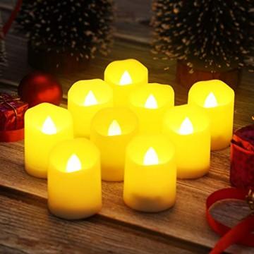 Criacr 9er Led Kerzen mit Fernbedienung, Flammenlose Kerzen mit Timerfunktion, elektrische teelichter, 3 Modi, Batteriebetriebene Kerzen für Weihnachtsdeko, Hochzeit, Geburtstags Party ( Warmweiß ) - 8
