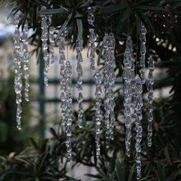 DAHI Christbaumschmuck eiszapfen Anhänger 25 Stück - Acryl eiszapfen deko weihnachtenbaum Anhänger (eiszapfen 25pcs) - 1
