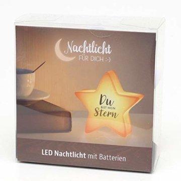 Dekohelden24 LED Nachtlicht, Du bist Mein Stern, L/B/H: 13 x 5,5 x 13 cm - 6